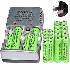 12x AA 3000mAh + 12x AAA 1800mAh 1.2V NI-MH Rechargeable Battery + Charger