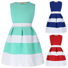 Fashion Baby Girls Sleeveless Princess Dress Kids Party Birthday Pageant Dresses