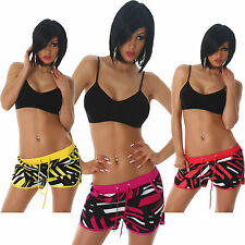 Ladies Shorts patterned Pockets S 32 34 36 Summer Leisure Panty sexy