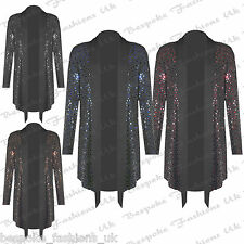 Ladies Women's Polka Dot SHINEY SEQUIN Open Party Xmas Cardigan Top Plus 14-28