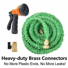 Green Latex 25 50 75 100 FT FEET Expanding Expandable Flexible Garden Water Hose