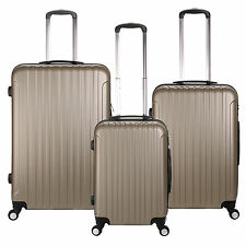 "Champagne 20/24/28"" 4 Wheel Spinner Suitcase ABS Trolley Travel Luggage Choose"