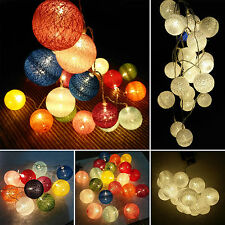 Cotton Balls Battery Operated String Light Fairy Party Lamp Christmas Decoration