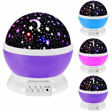 Beautiful Star Sky Starry Night Projector Night Light Lamp For Kids Baby Bedroom