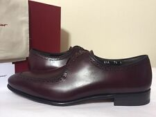 Salvatore Ferragamo Nikel Oxford Wine Leather Men's Lace Up Oxford Shoes.