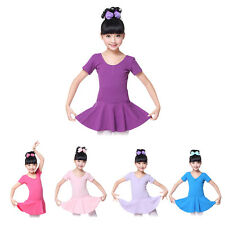 3-14 Years Girls Cotton Ballet Dress Leotard Dancewear Costume Gymnastics