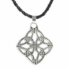 Fashion Silver Pentagram Star Celtic Knot Cross Pewter Pendant Choker Necklace
