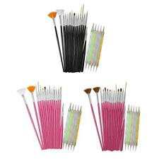 20pcs Women Nail Art Design Set Dotting Painting Drawing Polish Brush Pen Tools