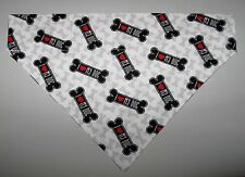 I Love My Dog Bones Dog Bandana Scarf - Slide over Collar - Size Small to XLarge