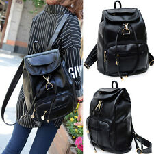 Vintage Women's Backpack Leather Handbag Travel Rucksack Shoulder School Bags
