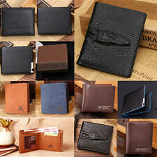 Mens Wallet Bifold Leather Credit ID Card Holder Billfold Coin Purse Wallets HOT