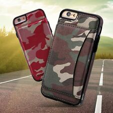 TNI Camo Leather Credit Card Holder Case for iPhone 6 & iPhone 6S
