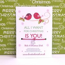 All I Want For Christmas Is You! Love Birds - Wish Bracelet/Stocking Filler Gift
