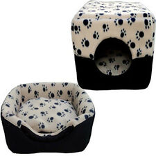 Pet Dog Beds Kennel House Cave 3 Ways Kennel Mat Puppy Dog Cat Paws Design Beds