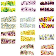 10 Sheet 3D Beauty Nail Art Sticker Water Transfer Decoration Flowers Decals Tip