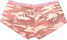 Womens Baby Pink Camouflage Slim Fit Booty Shorts Underwear