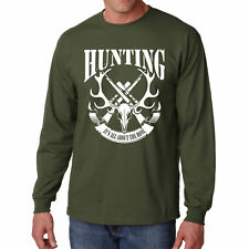 Long Sleeve S All About The Bones T Shirt Hunting Skull Gift Guns Hunter L Hunt