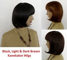 Ladies Medium Length BOB Full Wig High Quality Fancy Hair Kanekalon+Free Cap