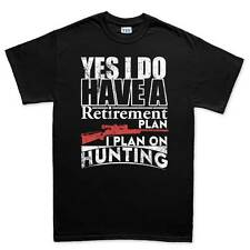 Hunting Hunter Plan Camping Survival Knife Mens T shirt Tee Top T-shirt