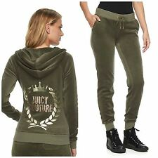 NWT JUICY COUTURE Tracksuit Velour Embellished Jacket Jogger Pants  XS S M L