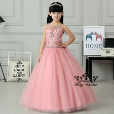 Flower Girl Dresses Princess Pageant Wedding Birthday Prom Party baptism pageant