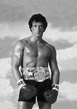Rocky Balboa Vintage Boxing Movie BOX CANVAS Art Print Black & White - All Sizes