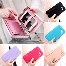 Women Leather Wallet Purse Lady Clutch Handbag Phone Card Holder Tote Bags Box
