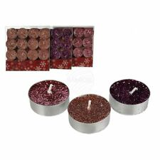 Glitter Tealights -Pack of 12-Copper-BRAND NEW-Christmas