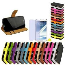 Samsung Galaxy Note 2 N7100 Synthetic Leather Bag Flip Case Phone Cover Cases