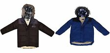 Boys Freaky Parka Padded Jacket Fleece Lined School Coat Age 3 4 5 6 7 8 9 10