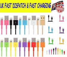 1M 2M 3M USB Sync Charger Data Lead Cable For iPhone 7 6 6S 5S 5C iPad Air Mini