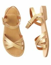 NWT Gymboree Ice Cream PARLOR Gold Strap Sandals shoes 11,12