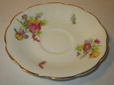 Vanderwood Bone China Saucer Floral Pattern Made in England