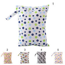 Baby Protable Nappy Washable Nappy Wet Dry Cloth Zipper Waterproof Diaper Bag VV