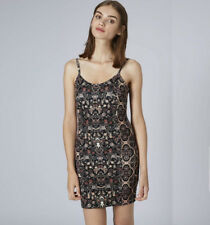 Topshop Floral Garland Bodycon Tunic Dress UK6/8/10