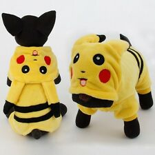 Dogs Clothes Pets Costume For Cats Puppy Cute Cartoon Pikachu Design Cosplay