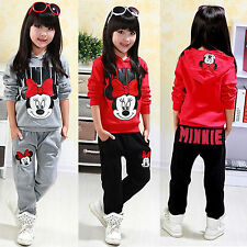 2pcs Girls Kids Minnie Hoodie Clothes Tracksuit Top+Pant Outfits Casual Suit Set