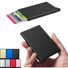 Men Women Slim Aluminum ID Credit Card RFID Protector Holder Wallet 1pcs Purse