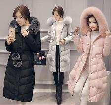 Women's Fox Collar Hooded Elastic Waist   Winter Feather Down Coat/Jacket Parka