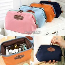 Women Toiletry Travel Make Up Cosmetic pouch bag Clutch Handbag Casual Purse WST