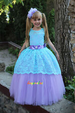 Flower Girl Dresses Princess Pageant Wedding Birthday Prom Party Ball pretty 12