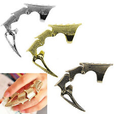 Punk Rings Rock Scroll Joint Armor Knuckle Metal Full Finger Claw Rings ONE