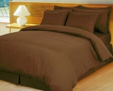 Chocolate Stripe Bedding Items-Sheet Set/Fitted/Flat 1000TC 100%Egyptian Cotton*