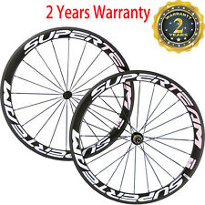 Superteam 700C 50mm Clincher Carbon Wheels Road Bike Wheelset Bicycle Wheelset