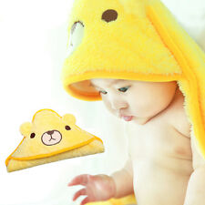 Cute Newborn Baby Infant Microfiber Hooded Swaddle Wrap Blanket Sleeping Bag