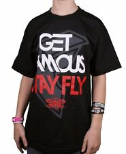 Famous Stars & Straps Get Famous Stay Fly Mens Black or White T-Shirt