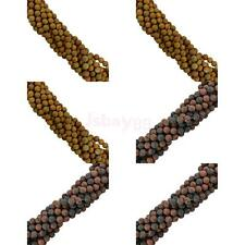 Round Natural Frost DIY Gemstone Loose Beads 15'' Strand with Size- 4mm/6mm/8mm