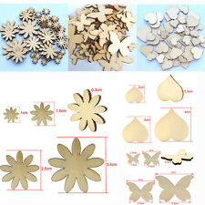 50x Hottest Mixed Sizes Butterfly Flower Heart Wood Buttons Scrapbooking Sewing