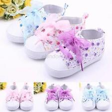 Toddler Child Kids Baby Girls Boots Lace Up Sole Crib Sneakers Shoes Shoes 0-18M