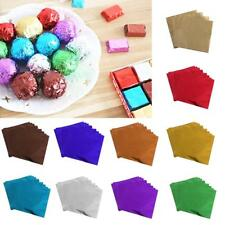 100x Square Candy Sweets Chocolate Lolly Foil Wrapper Paper Confectionery 3.15""